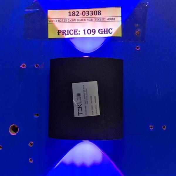 Svet-k B2325 2x3W BLACK RGB (TEKLED) 40sht