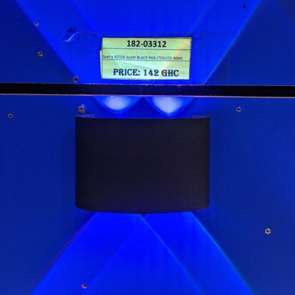 Svet-k B2326 4x3W BLACK RGB (TEKLED) 40sht