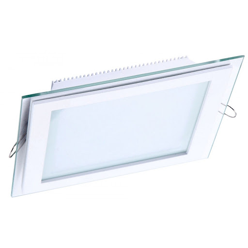 Sv-k DL LED GLASS KVADRO PANEL12W4500K(TT)40sht