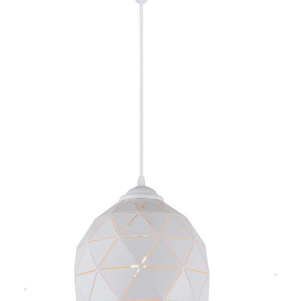 Lyustra HFD0321-1 E27 D200 WHITE (TEKAVIZE) 1SHT