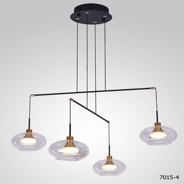 Lyustra LED 7015-4 4x8W 3500K BLACK (TEKAVIZE)1