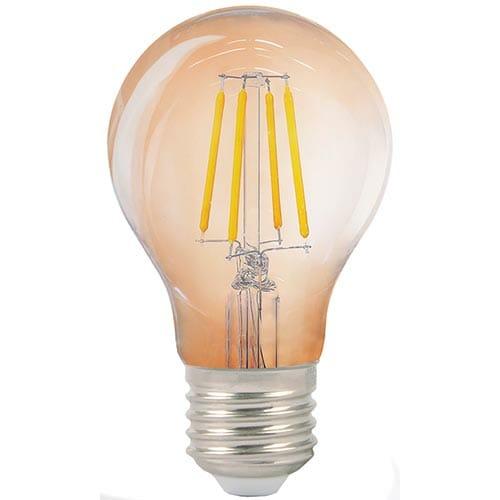 Lampa LED A60 AMBER 5W E27 2700K (TL)100sht