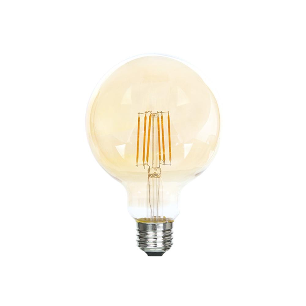 LampaLED FL G95 6W 600LM GOLD E27 2700K(TL) 20sh
