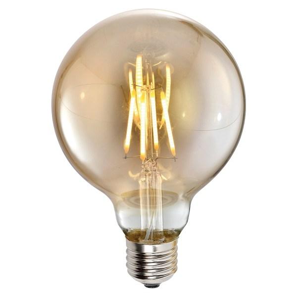 Lampa LED G80 4W AMBER E27 2700K 220V (TL)100sh