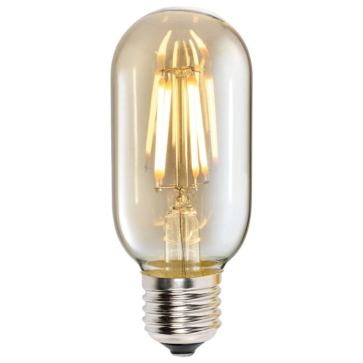Lampa LED T45 4W AMBER E27 2700K 220V (TL)100sh