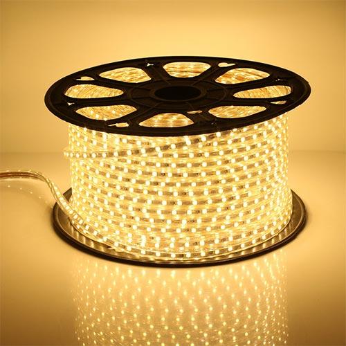 LED lentа5050/60 220V WARM WHITE 6.5W/M IP65 50mTL