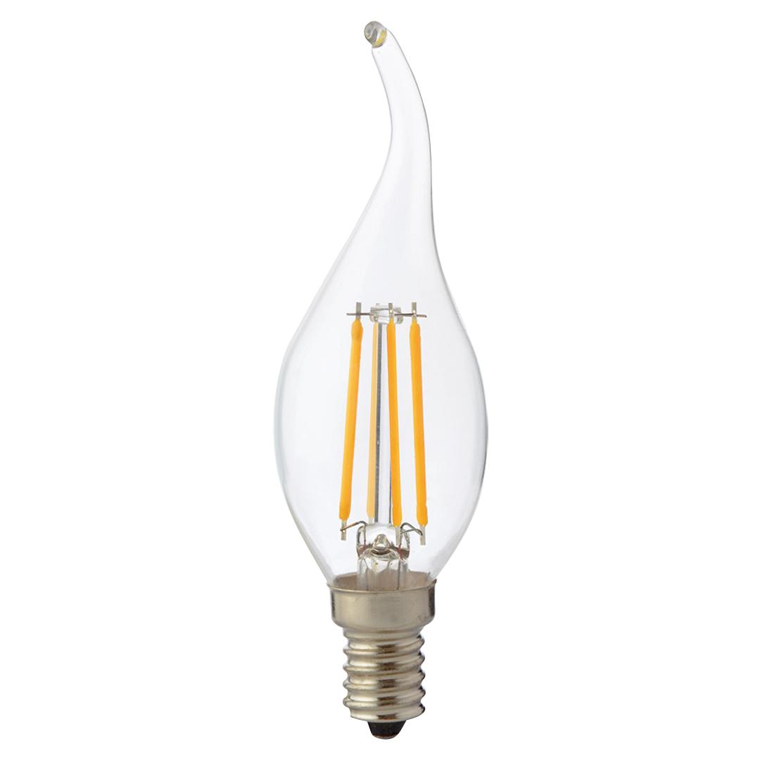 Lampa LED C35 AMBER 4W E14 2700K (TL)100