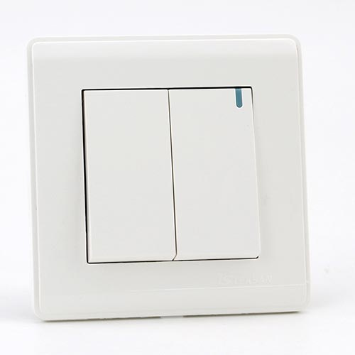 PRIME WHITE 2 GANG Two way switch (TS) 100