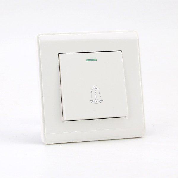 PRIME WHITE 1 GANG BELL Switch (TS) 100