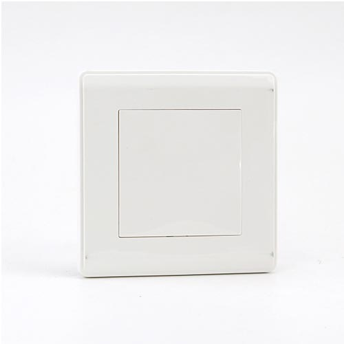 PRIME WHITE 1 GANG BLANK PLATE, Double (TS) 200