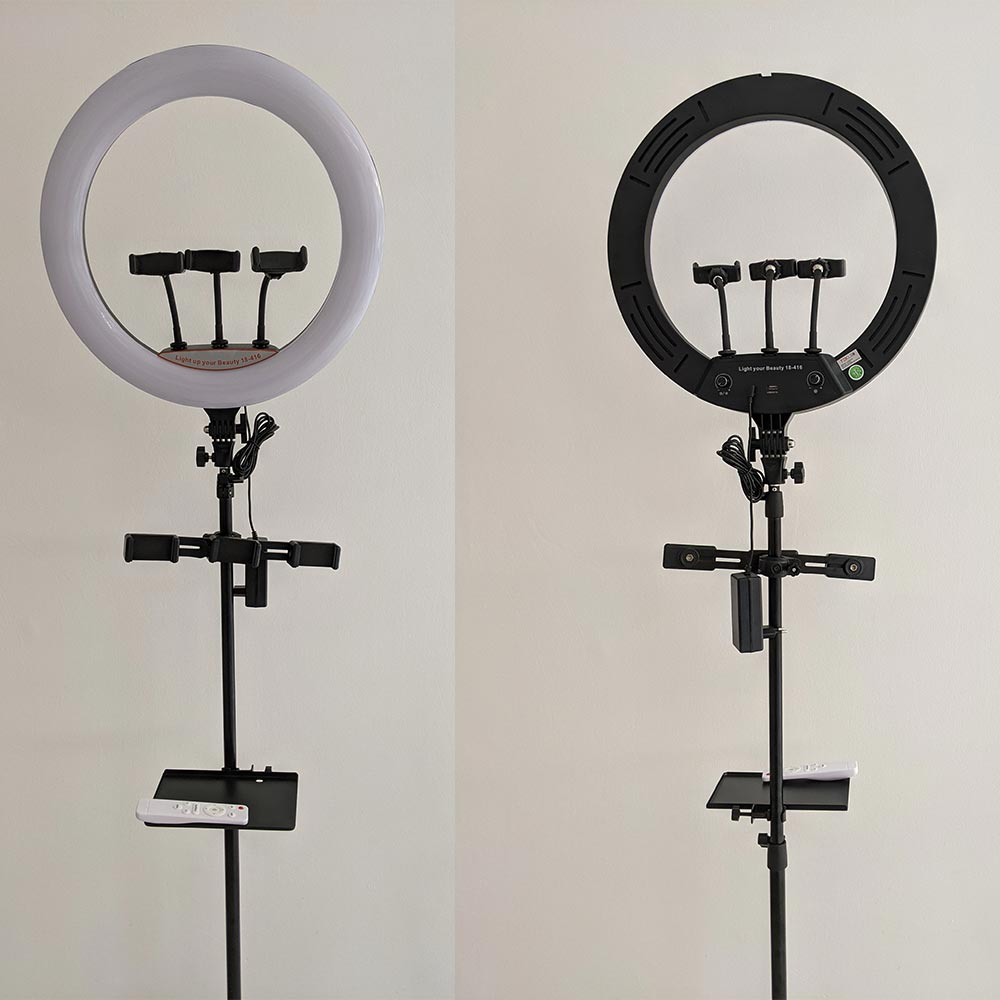 Ring Light 28W BLACK DIMMABLE 450mm (TEKLED) Ghana