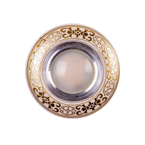 Spot LED TC-03 ROUND WHITE GOLD (TEKLED) 100sht