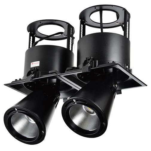 Lighting Fixture DOWNLIGHT LED LS-DK911-2 2X40W 5700K BLACK4