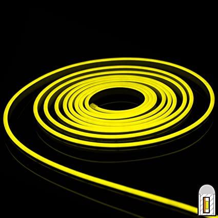 LED Strip Neon Light Lemon Yellow 6W/M 220V IP65100 Min 5M
