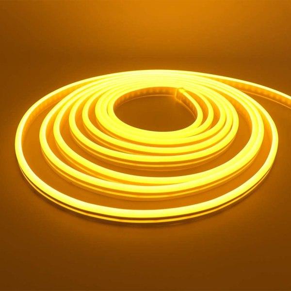 LED Strip Neon Light Gold Yellow 6W/M 220V IP65100 Min 5M