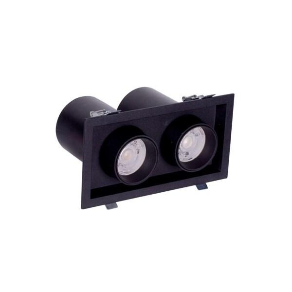 Sv.DOWNLIGHT LED DURBUN 2*10W 4000K BLACK (TEKL)12