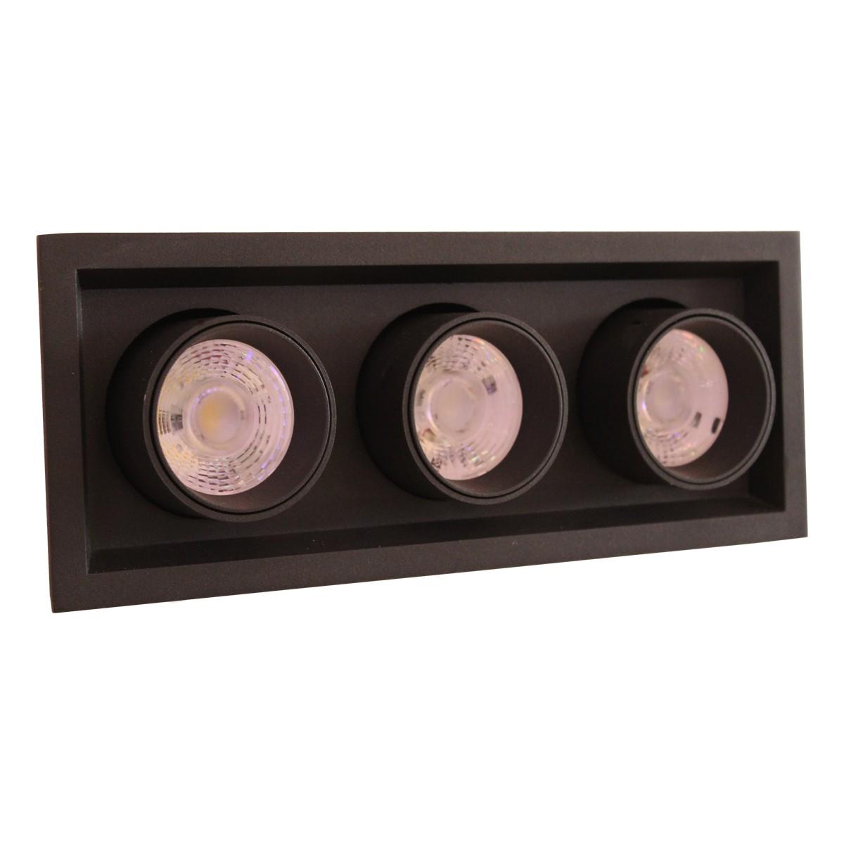 Sv.DOWNLIGHT LED DURBUN 3*10W 4000K BLACK (TEKL)8