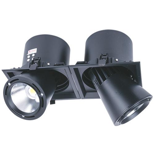 Sv-k DL LED LS-DK913-2 2x 40W BLACK 5700K(TS)4sh