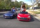 Mini Tesla Model S darà ai tuoi bambini l'amore per le auto elettriche