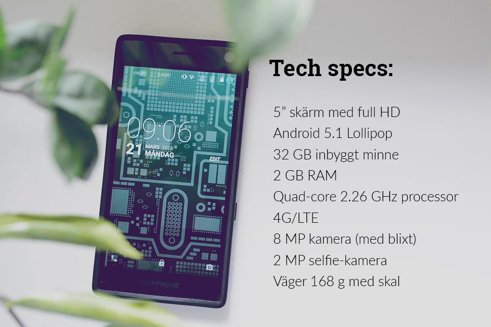 fairphone test techspecs blogg