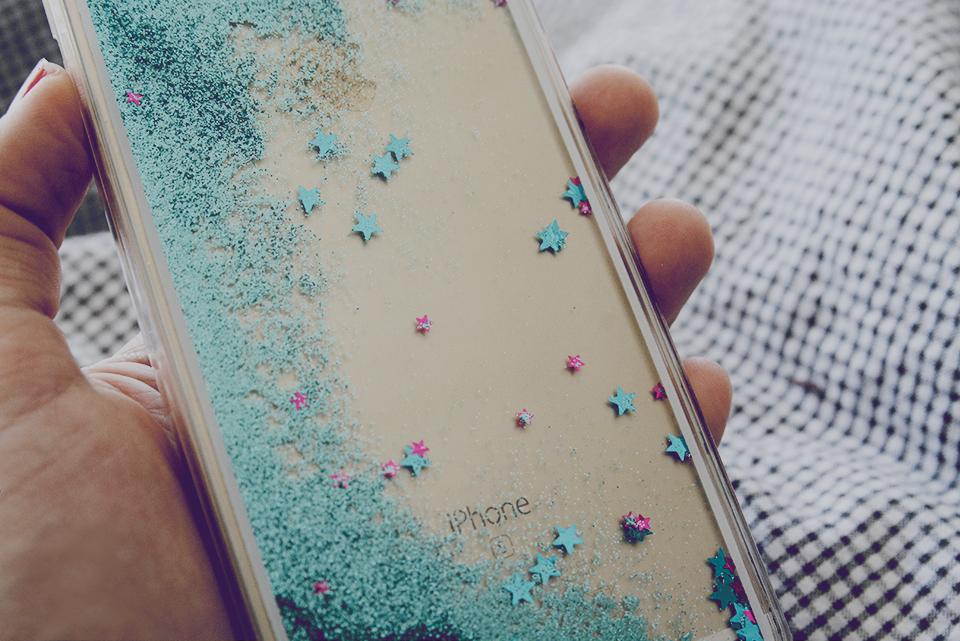 glitterskal flytande glitter iphone 6S+