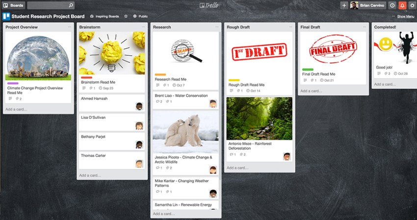 Trello-StudentResearchProjectBoard