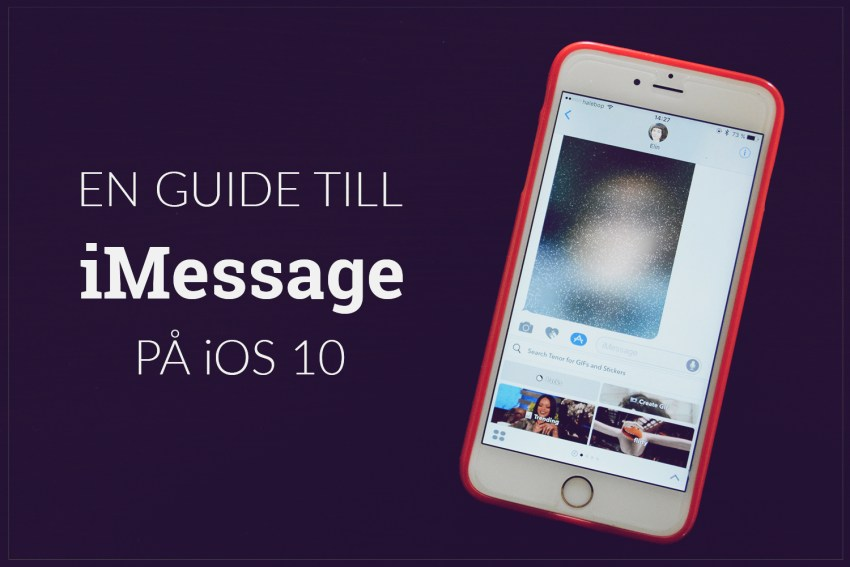 imessage iOS 10 nya funktioner