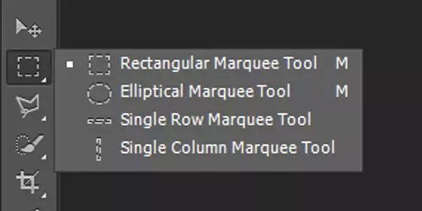 seleksi foto dengan Marquee tool