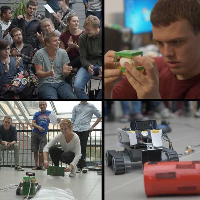 Idag redovisade F15 vad de åstadkommit den senaste veckan - kluriga säljpitchar, ekologiska lösningar och autonoma robotar! Gravitationen visade sig som alltid från sin hjälpsamma sida när den hjälpte de sex gruppernas landningsmoduler landa. #tekniskfysik #umu
