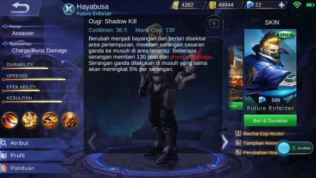 Hayabusa, Jenis Hero Dalam Game Mobile Legends