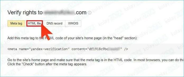 yandex-webmaster-site-eklemek