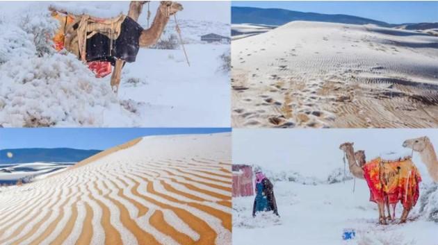 Sahra Çölü'ne Son 42 Yılda 4. Kez Kar Yağdı