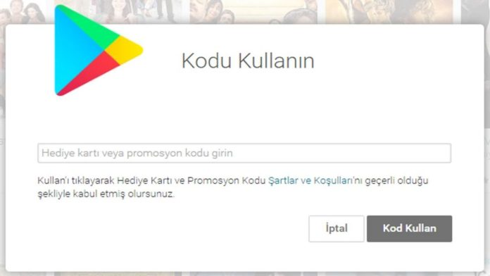 Google Play Bedava Hediye Kodu