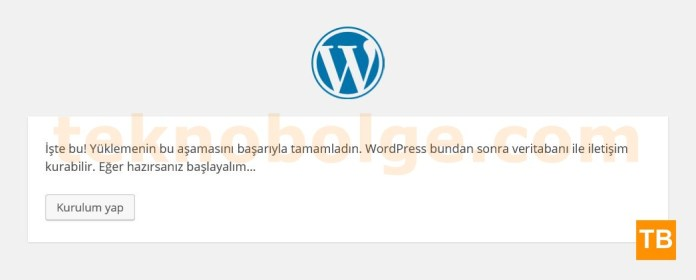 WordPress Kurulumu - 3