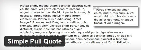 WordPress - Simple Pull Quote