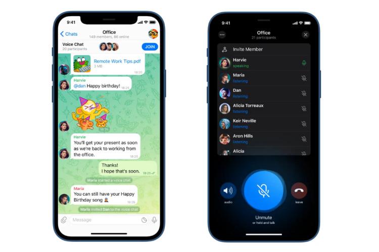 Telegram, Sesli Sohbet Özelliğini Kullanıma Sundu