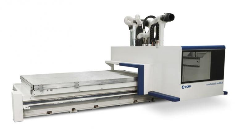 Обрабатывающий центр с ЧПУ для кромкооблицовки MORBIDELLI M 400 F, производство SCM Италия