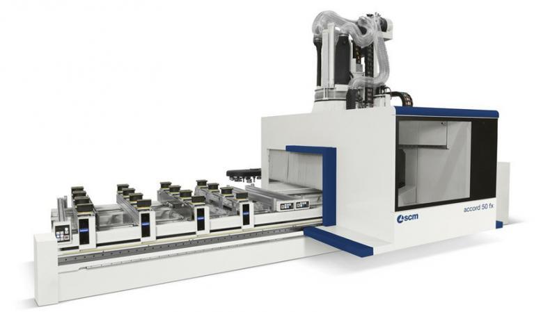 Обрабатывающий центр с ЧПУ для обработки столярных изделий из массива древесины ACCORD 50 FX, производство SCM Италия