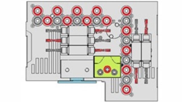 Обрабатывающий центр с ЧПУ Morbidelli M 100/200 F, производство SCM Италия, схема сверлильного блока F31LTC