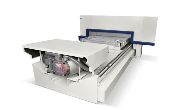 Обрабатывающий центр с ЧПУ Morbidelli M 100/200 F, производство SCM Италия, вакуумный насос