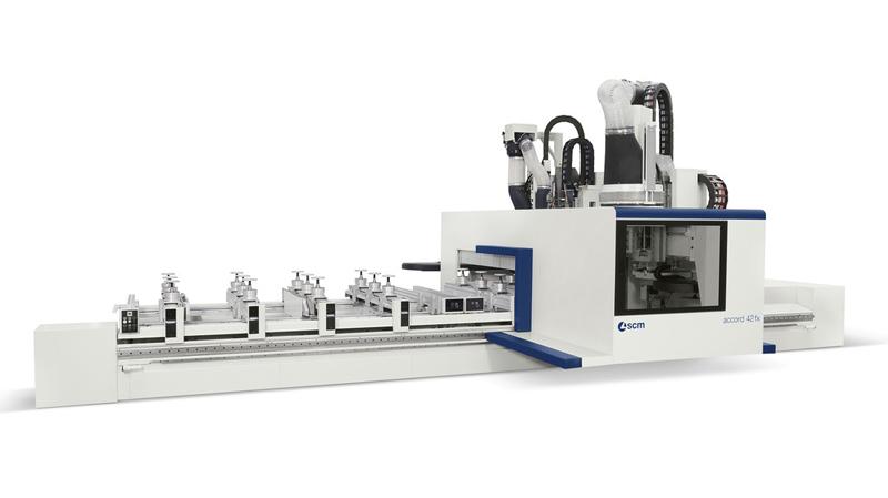 Общий вид обрабатывающего центра с ЧПУ ACCORD 42 FX, производство SCM Италия