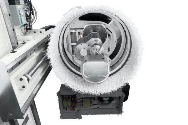 Фрезерная группа обрабатывающего центра с ЧПУ Morbidelli 400F, производство SCM Италия