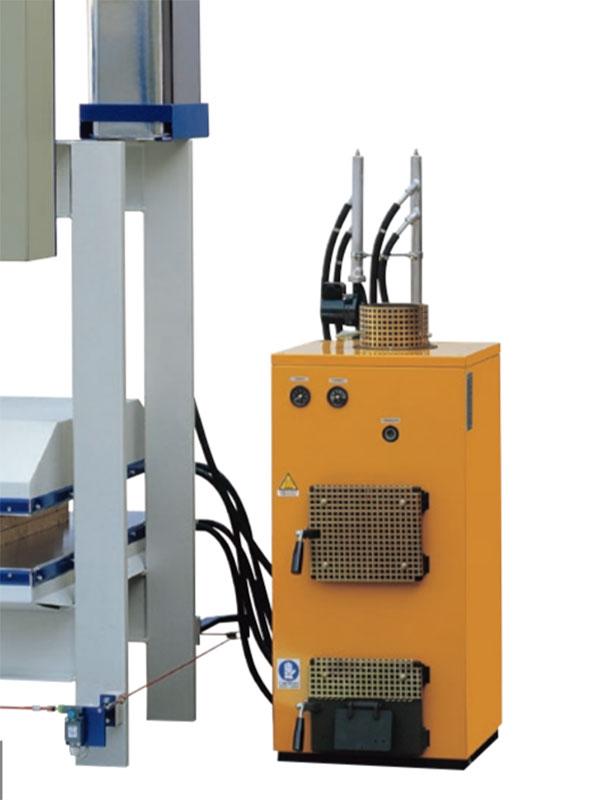 Установка для нагревания с дровяным котлом горячего пресса C PCL, производство Ormamachine Италия