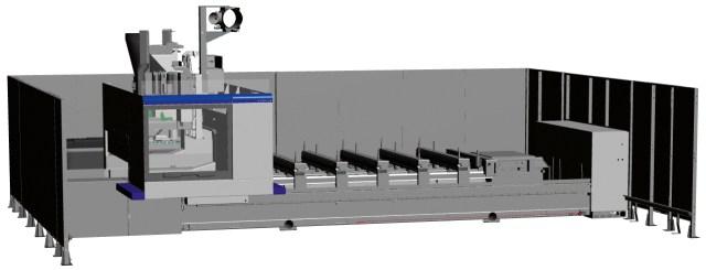 Визуализация компоновки PRO-SPEED ACCORD 25 FX, производство SCM (Италия)
