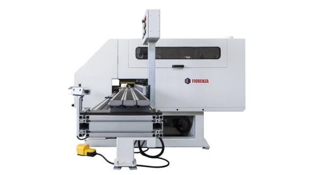 Станок TRON для прецизионной торцовки погонажа, производство Fiorenza Италия