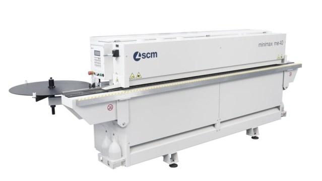 Автоматический кромкооблицовочный станок Minimax ME 40, производство SCM Италия, вид спереди