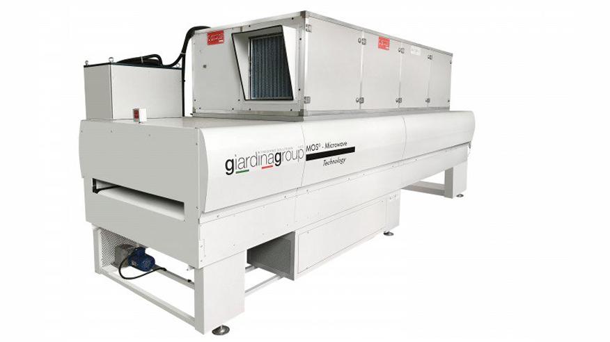 Микроволновый сушильный туннель M.O.S., производство Giardina Group Италия