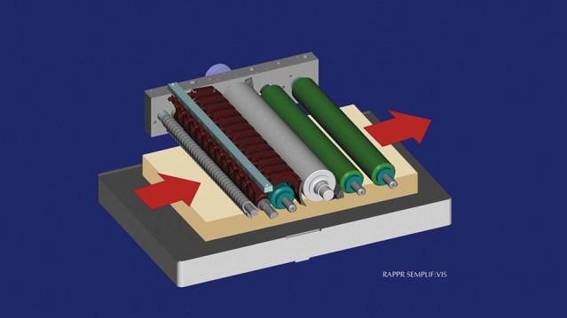 Рейсмусовый станок Nova S 630 Xylent, производство SCM Италия, роликовая система