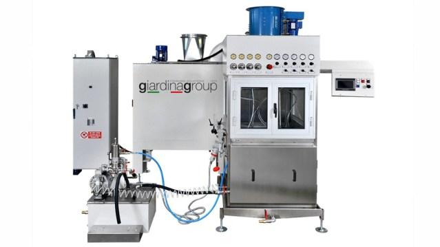 Автомат окраски распылением для 100% УФ акриловых материалов MCS, производство Giardina Group Италия