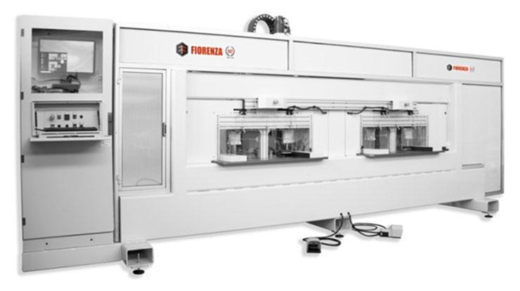 Станок для обработки поперечин рамочных фасадов FSFS2, производство Fiorenza Италия